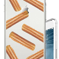 iPhone 6S Case Churros Funny Foodie Food Snack Clear Translucent Transparent Unique Design Pattern Cover For iPhone 6S also fits iPhone 6