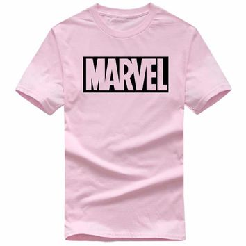 2017 new fashion MARVEL T-shirt men's and women's cotton short-sleeved casual men's T-shirt miracle men and women couples T-shir