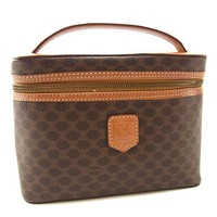 Celine Pouch Bag Vanity Macadam Brown Brown Woman Authentic Used Y3167