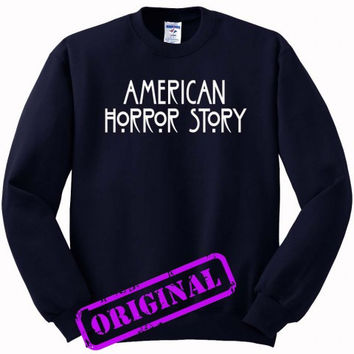 American Horror Story for Sweater navy, Sweatshirt navy unisex adult