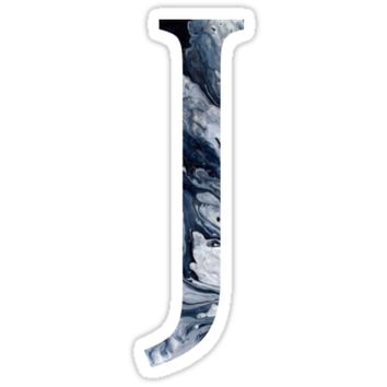 'J' Sticker by Jessica Arling
