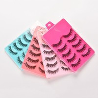 4 Color 5pairs False Eyelashes Set Hand Made Crisscross Eye Lash Extension Tools False Strip Lashes Beauty Essentials