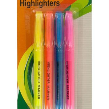 Quick-Drying Chisel Tip Highlighters Set ( Case of 54 )
