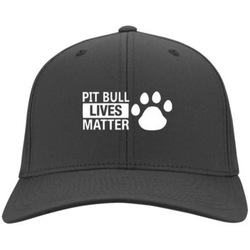 Pit Bull Lives  - CP80 Port & Co. Twill Cap By Little Pit Shop