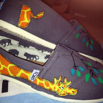 Giraffe Design Custom TOMS by UniquelySouledDesign on Etsy