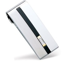 Dolan Bullock Stainless Steel and 18k Yellow Gold Diamond Accent Money Clip