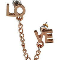 Double Love Chain Earring - Earrings - Jewelry  - Accessories
