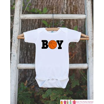 Basketball Bodysuit - Basketball Onepiece Bodysuit - Basketball Outfit - Boys Romper - Novelty Basketball It's a Boy Gender Reveal Outfit