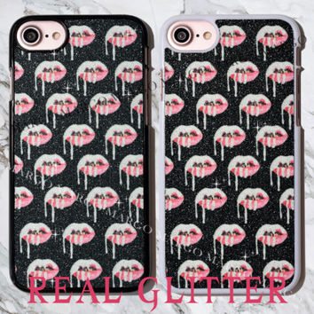 REAL GLITTER Kylie Lip Kit Lips Bling Sparkle Case Cover for iPhone Samsung Sony | eBay