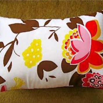 bud and branches pair of pillow covers by pillowhappy on Etsy