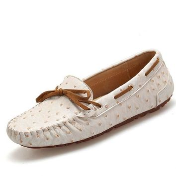 Spring women flats shoes handmade soft leather flats shoes moccasins cowhide flexible ballerina flats loafers