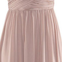 One Shoulder Sleeveless Ruched Maxi Dress