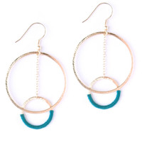 Thread and Hoop Earrings