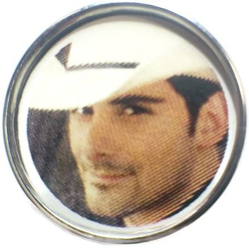Brad Paisley Oh So Sexy Country Artist Photo 18MM - 20MM Fashion Snap Jewelry Snap Charm New Item