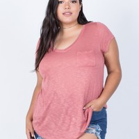 Plus Size Comfy Pocket Tee