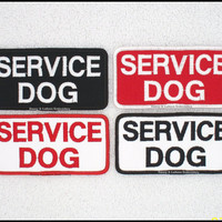 1 Service Dog Patch 2x4 inch Danny & LuAnns Embroidery