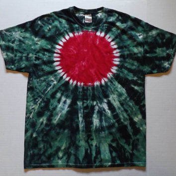 DOUBLE SIDED Tie Dye Circle Shirt - Choose Any Size (Adults, Kids,Toddlers), Style Shirt, and Color Scheme