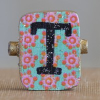 """""""T""""  Gypsy  Girl  Letter  Magnet  From  Natural  Life"""
