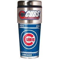 Chicago Cubs Stainless Steel Metallic Travel Tumbler (Cub Team)