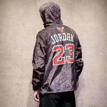 Jordan 23 Fashion Hooded Zipper Cardigan Sweatshirt Jacket Coat Windbreaker Sportswear
