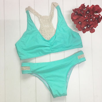 Summer High Quality Comfortable Sexy Green Swimwear [10016856141]