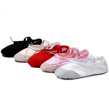 TEIJIAN Ballet Slippers For Girls Classic Split-Sole Canvas Dance Gymnastics Yoga Shoes Flats Dance shoe Ballerina
