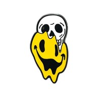 Happiness Smiley Face Skull Pin