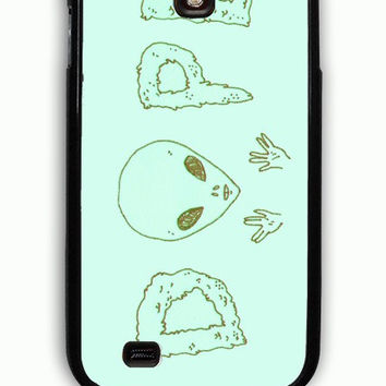 Samsung Galaxy S4 Case - Rubber (TPU) Cover with Alien Dope Rubber Case Design