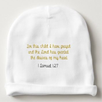 For this Child I have Prayed, 1 Samuel Bible Baby Beanie