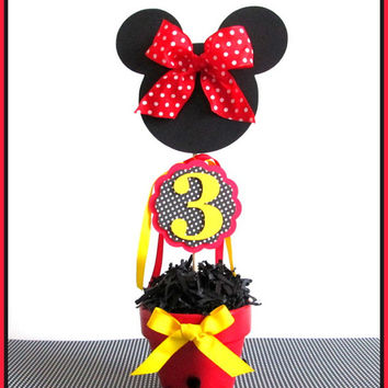 Minnie Mouse Party Decorations | Minnie Mouse Centerpieces
