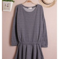 Women Autumn New Style Loose Long Sleeve Cotton Dark Grey Cotton Tops One Size@WH0055dg $13.16 only in eFexcity.com.