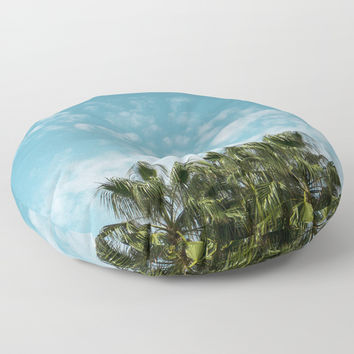 Good vibes. Landscape Floor Pillow by VanessaGF