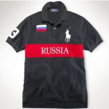 Beauty Ticks Ralph Lauren Furniture Short Sleeve Nation Flag Russia Mrlfp033