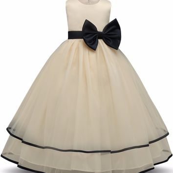 Kids Prom Party Gowns Designs Children Clothes Formal Clothing Girls Dresses for Wedding Tulle Baptism Girl Princess Tutu Dress