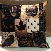 "Gothic - Halloween Throw Pillows - Pillows inspired by Edgar Allen Poe's ""The Raven"""