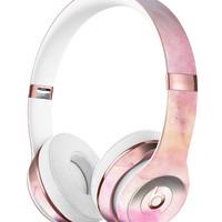 Pink 42 Absorbed Watercolor Texture Full-Body Skin Kit for the Beats by Dre Solo 3 Wireless Headphones