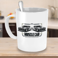 Muscle Car Grandpa Coffee Mug 11 or 15oz White Ceramic Cup, Classic Car, Grandfather, Vintage Vehicle, Gift for Grandad, Antique Automobiles