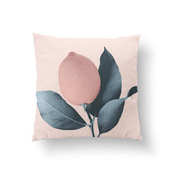 Lemon Peach Pillow, Livingroom Pillow, Home Decor, Cushion Cover, Throw Pillow, Bedroom Decor, Bed Pillow, Decorative Pillow, Nursery Decor