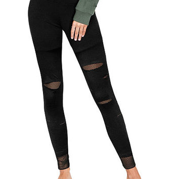 Ultimate High Waist Mesh Street Legging - PINK - Victoria's Secret