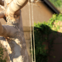 On Point Gold Necklace