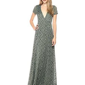 Show Me Your Mumu Women's Eleanor Maxi Dress, Fleur De Lis Lace Rosemary, S