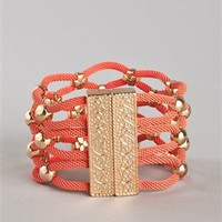 XX Gold Studded Bracelet - BR008 - Coral | Shop Accessories