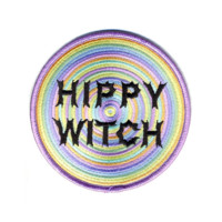 HOME :: Pins & Patches :: PATCHES :: Hippy Witch large iron-on embroidered patch
