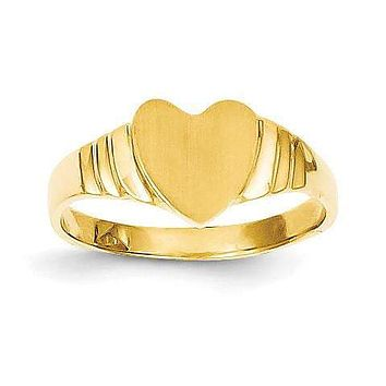 14K Baby Heart Signet Ring