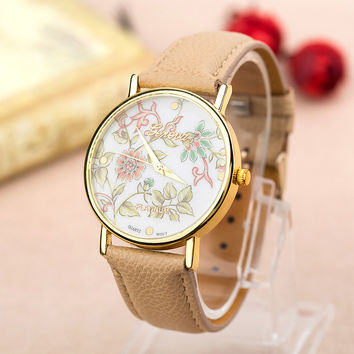 Great Deal Awesome Good Price Gift Trendy New Arrival Designer's Hot Sale Quartz Pastoral Style Stylish PU Leather Watch [4915364804]