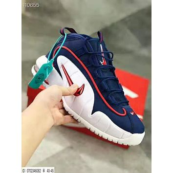 Nike Air Max Penny 1 Fashion Men Casual Sport Running Basketball Shoes Sneakers Blue