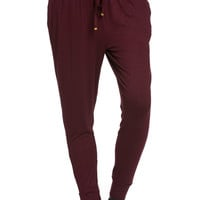 Lightweight Jogger Pants Burgundy