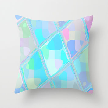 Re-Created Mirrored SQ III Throw Pillow by Robert S. Lee