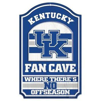 """Licensed Kentucky Wildcats Official NCAA 17"""" x 11"""" Wood Sign UK by Wincraft 934802 KO_19_1"""