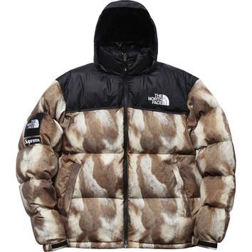 Supreme: The North Face®/Supreme Fur Print Nuptse Jacket - Brown